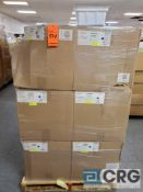 Lot of white plastic tubs 9 in. X 8 in. X 4 in. deep, contents of 6 skids