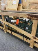 """Conveyor. Hytrol Conveyor Company wire-mesh belt over roller style conveyor. 8"""" belt width"""