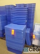 Lot of (+/- 70) interlocking stackable plastic totes with covers