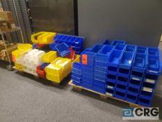 Lot of asst plastic storage bins