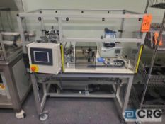 Custom automated UV gluing machine includes two (2) Nordson EFD ValveMate 7100 dispensing valve