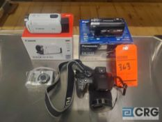 Lot of (2) video cameras and (2) digital cameras
