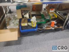 Lot of asst hardware including pipe brackets, screws, fittings, connectors etc