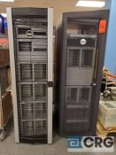 Lot of (2) Dell server cabinets including the following, CABINET 1, HP ProCurve MSM760 controller,