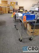Lot of (5) Metro type shelf portable carts 3 ft X 18 in.