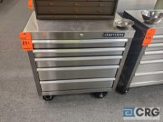 Craftsman 5-drawer stainless steel portable tool chest