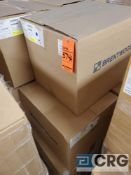 Lot of white plastic tubs 9 in. X 8 in. X 4 in. deep, contents of 2 skids