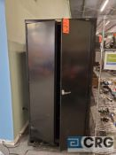 Lot of (2) ULINE 4 tier adjustable shelf metal storage cabinets 3 ft X 2 ft X 6 ft (LATE REMOVAL)