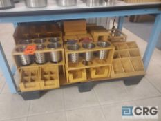 Lot of wooden utensil, condiment and napkin holders, (8) air pots and asst pitchers
