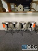 Lot of (4) S.S clean room stools