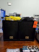 Lot of (2) MUSYSIC speakers m/n MU-10, 10 in. woofer, 800 watts max.