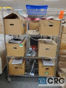 4 ft X 24 in. X 69 in. 4 tier portable metro type shelf (LATE REMOVAL)
