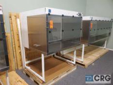 "Terra Universal Value Line Laboratory Hood mn 2100-88 54""w x 45""d x 65""h Powder Coated floor"