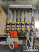 Plastic Process Equip. m/n FSML 6 tube flow meter, 180 max psi
