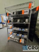4 ft X 18 in. X 78 in. 6 tier portable metro type shelf (LATE REMOVAL)