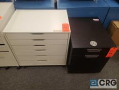 Lot of (2) asst. portable formica undercounter cabinets