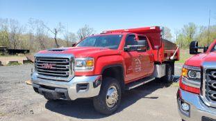 2017 GMC Sierra 3500 dump truck, 12' dump body with roll tarp, aluminum wheels, 4 X 4, 19,990 MILES