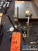 Lot of (4) magnetic stands with dial indicators (LOCATED IN TOOL ROOM MACHINE SHOP)