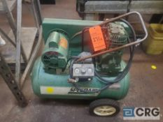 Speedaire portable horizontal air compressor, 2 HP (LOCATED ON 1ST FLOOR PRODUCTION AREA)