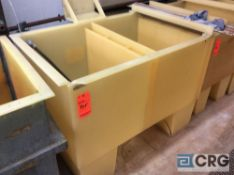 52 inch wide poly tank (LOCATION: PLATING ROOM ON 2ND FLOOR)