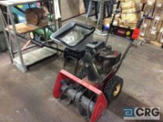 Toro snowblower, 24 inch throat, 7 HP gas engine and (1) broadcast spreader (LOCATED INSIDE TOOL