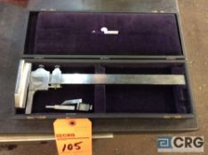 Brown and Sharpe 12 inch height gauge with case (LOCATED IN TOOL ROOM MACHINE SHOP)