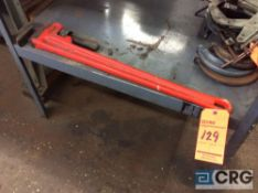Ridgid 24 inch pipe wrench and (5) asst clamps (LOCATED IN TOOL ROOM MACHINE SHOP)