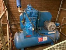 Scales Horiz Air Compressor m/n 340—101, s/n 312406, 7.5hp, 3ph
