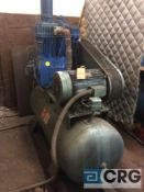 Scales horizontal air compressor, 20 HP motor (LOCATED ON 1ST FLOOR PRODUCTION AREA)