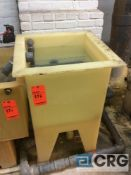 24 inch wide poly tank (LOCATION: PLATING ROOM ON 2ND FLOOR)