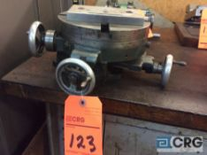 Compound slide rotary table, 8 inch diameter (LOCATED IN TOOL ROOM MACHINE SHOP)