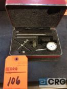 Starrett dial indicator with accessories and case (LOCATED IN TOOL ROOM MACHINE SHOP)
