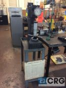 Rockwell hardness tester, sn 66410 with accessories case and stand (LOCATED IN TOOL ROOM MACHINE