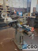 Lars Machine Company pantograph, 8 X 18 inch T-slot table, Kurt 4 inch milling machine vise,