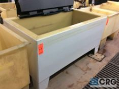 72 inch wide poly tank (LOCATION: PLATING ROOM ON 2ND FLOOR)