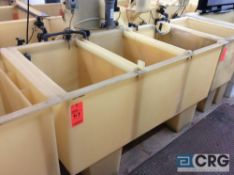 68 inch wide poly tank (LOCATION: PLATING ROOM ON 2ND FLOOR)