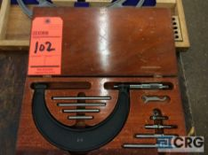 Brown and Sharpe 2-6 inch O.D. micrometer with wood case (LOCATED IN TOOL ROOM MACHINE SHOP)