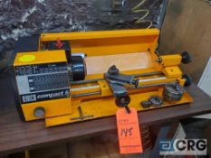 Emco COMPACT 5 table top mini lathe, 6 X 14 inch BC, 1 phase (LOCATED IN TOOL ROOM MACHINE SHOP)