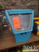Napp 16 X 12 x 12 inch bench top sand blast box, 1 phase (LOCATED IN TOOL ROOM MACHINE SHOP)