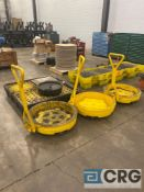 Lot of assorted oil containment equipment, including (3) Eagle 1613 rolling drum bogies, (2) Eagle