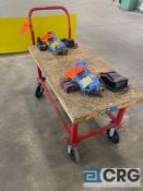 24 inch X 48 inch portable flatbed cart with wood top