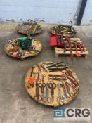 Lot of assorted hand tools, including (17) shears, Allen wrenches including Vallen 15 piece Arm