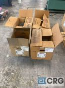 Lot of (4) used motors, including (1) Sterling 5 HP 1160 RPM 3ph AC motor, (1) GE 5 HP 1745 RPM