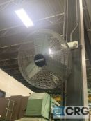 Lot of (3) wall mounted industrial fans (IN MILL AND PARTS AREA)