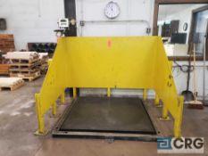 5 foot X 5 foot platform scale with Toledo GSE 350 digital control, 10,000 lb capacity