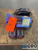 Orgapac OR-T 200 semi automatic combination cordless strapping tool, with batteries and charging
