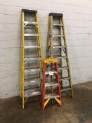 Lot of ass't Step Ladders (2) 8' Step, (1) 4' Werner Step Ladder