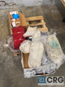 Lot of assorted fabric, rubber and vinyl gloves and shop rags