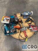 Lot of (7) electric tools, including (1) Baldor 111 2P buffer, (1) Black and Decker BD1000 Type 2