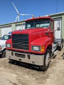 2010 Mack CHU613 tandem axle day cab, Mack MP8 engine, Fuller 8LL manual transmission, 12k & 44k